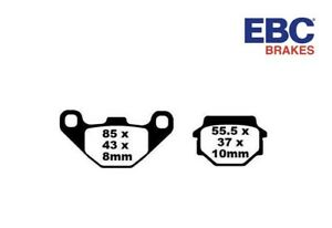 Ebc Brakes Pads Pastiglie Freno Posteriore Per Kawasaki KLR 650 2003 2004