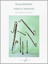 Thème et Variations pour clarinette en si b et piano - Patrick Burgan