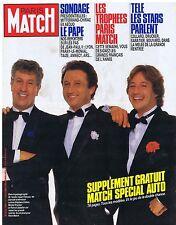 COUVERTURE DE MAGAZINE PARIS MATCH 1950 10/10/86 Les Stars de la Télé