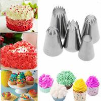 5Pcs/Set Large Icing Pipping Nozzle Cake Pastry Cream Baking DIY Decorating Tool