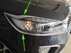 Chrome Front Light cover for 2015-2017 KIA Sorento Light cover Eyebrow Lamp