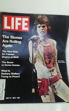 vintage 1972 LIFE magazine featuring The Rolling Stones