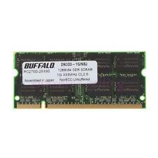 Buffalo 1GB PC-2700 2Rx8 Laptop Memory DDR 333Mhz 2.5V CL2.5 200Pin SODIMM RAM