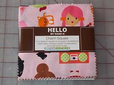 """42 5"""" Charm Squares Robert Kaufman Whimsical Storybook Quilting Fabric"""