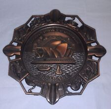Copper Australiana ashtray Sydney Harbour Bridge & Opera House & animals