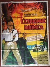 Affiche L'ESPIONNE SERA A NOUMEA Antoine Balpetre ANOUK FERJAC 120x160cm