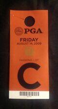 2009 PGA Championship Parking Hangtag Hazeltine National Golf Course