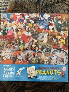 "Springbok 500 Piece ""Peanuts 45 Years"" Family Jigsaw Puzzle"