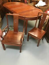 rosewood table with seats for 8; 2 end and 6 side seats