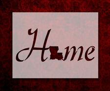 "Louisiana State Home Love 8.5"" x 11"" Stencil FAST FREE SHIPPING (684)"