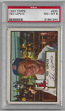 1952 TOPPS TED LEPCIO #335 PSA 8 NM-MT - HIGH NUMBER