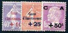 FRANKREICH 1928 232-234 * TADELLOSER SATZ CAISSE AMORTISSMENT (I2252