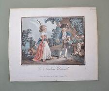 Rare Paire d'Aquatintes XVIIIème de Jean-Baptiste Huet et Louis-Marin Bonnet