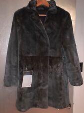 Mink Fur Jacket Made in Denmark Grey/Brown Semi Sheared Mink Size M/8
