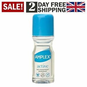 Amplex Active Anti-Perspirant Deodorant Roll-On 50ml 24 Hour Protection 12 Pack