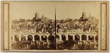SUISSE Lausanne Le Grand-Pont Photo Stereo c1860 Vintage Albumine