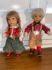 Pair Of Vintage KATHE KRUSE 10 inch Dolls Boy And Girl