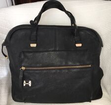 Halston Heritage North South Downtown Tote Bag Purse in Black Leather-VERY  NICE 68bdf53bdc2c4
