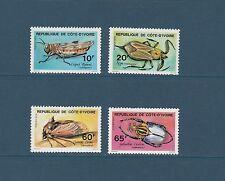 Cote d' Ivoire  faune insectes   de 1978  num: 463/66  **