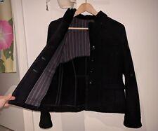 90% Wool 10% Angora Black Jacket Made in Japan short coat