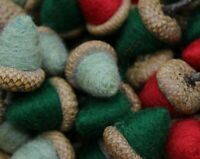 Primitive Rustic Christmas Mix Acorn Bowl Fillers Needle Felt Melissa Philbrook