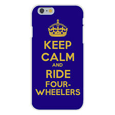 Keep Calm and Ride Four-Wheelers FITS iPhone 6+ Plastic Snap On Case Cover New