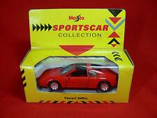 MAISTO Sports Car Collection FERRARI 348TS Die Cast Model 1:38 Scale COLLECTORS