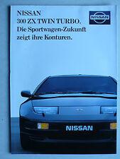 Prospekt Nissan 300 ZX Twin Turbo mit 280 PS, 9.1989, 16 Seiten, folder
