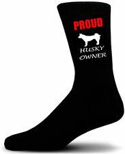 Black Proud Husky Owner Socks - I love my Dog Novelty Socks