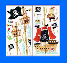Pirate Monkey Height Growth Chart Kids Children Boys Wall Stickers Nursery