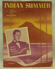 """SHEET MUSIC """" INDIAN SUMMER """"1939"""