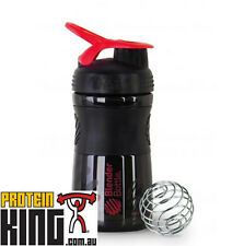 Blender Bottle Sport Mixer 590Ml Black Red Protein Shaker Cup Sportmixer 20 Oz