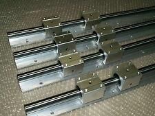 25mm linear slide shaft SBR25-1500/1700mm 4 rail+8 SBR25UU bearing block CNC set