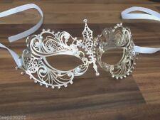 Venetian Masquerade Mask Metal Silver Filigree Ball Party Disco Halloween SM3