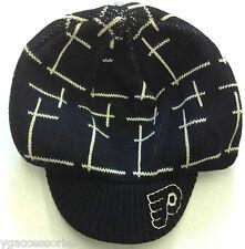 NHL Philadelphia Flyers Basic Logo Knit With Visor  Beanie cap