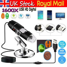 1600X USB Zoom 8 LED Digital Microscope Magnifier Endoscope Camera for Phone UK
