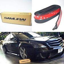 SAMURAI Body Kit Bumper Lip Side Edge Rubber Sports Skirt Black For All Cars