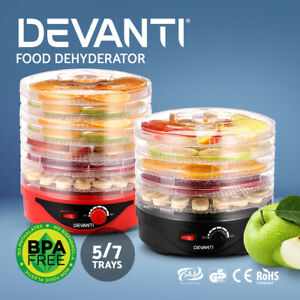 Devanti 5/ 7 Trays Food Dehydrators Jerky Maker Fruit Dehydrator Dryer Preserver