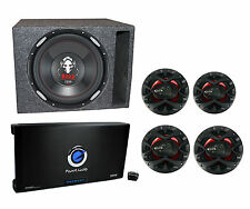 """Boss Audio 12 Inch P126DVC Ported Subwoofer + 4) 6.5"""" Speakers + 5 Channel Amp"""