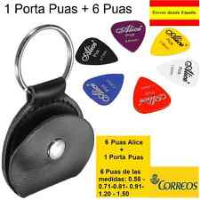 1 Porta Puas  + 6  Puas de Guitarra Alice :0.58 0.71 0.81 0.96 1.20 1.50 mm