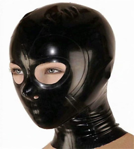 100% Latex maske - SM Fetish Face Bondage Mask