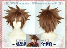 KINGDOM HEARTS 3 Sora Short Brown Yellow Heat Resistant Anime Cosplay full Wig