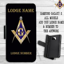 PERSONALISED FREEMASONS MASONIC LODGE  Samsung GALAXY S Flip Wallet Cover Case