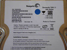 640gb Seagate st3640323as s/n: 9vk p/n: 9fz134-510 F/W: sd33 site: TK