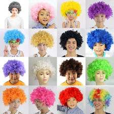 Curly Afro Fancy Dress Wigs Disco Clown Adults Costume Dress Up Hair 60'S 70'S