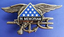US Navy SEALS Special Warfare SEAL Team Trident Insignia IN MEMORIAM Badge Pin