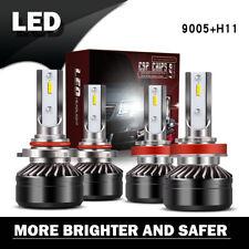 Pair 9005+H11 LED Headlight Bulb High Low Beam Kit 2Sets 240W 24000LM 6500K LXZ