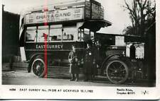 Pamlin photo postcard M584 East Surrey AEC Bus PC9250 Uckfield 1923