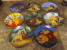 Lion King Plates from the Bradford Exchange-set of 8