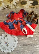 """5 PC Cowgirl Dress,Jacket,Boots,Panties,Necklace for Tonner 10""""Ann Estelle,Patsy"""